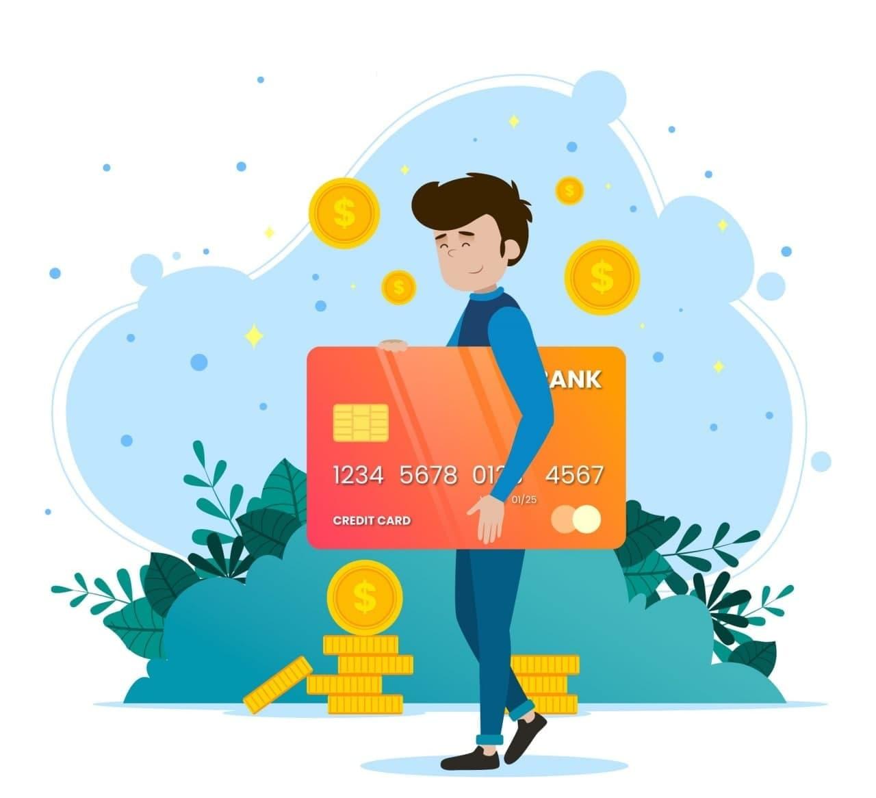 Credit Card Behind Credit